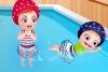 可爱宝贝的游泳时光