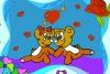 可爱的情侣小熊