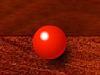 红球击黄球