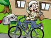 报童停靠自行车