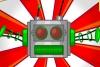 红色音乐机器人