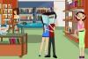 图书馆偷偷接吻