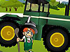 小男孩开拖拉机
