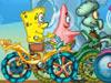 海绵宝宝自行车大赛