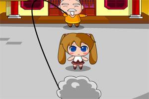跳绳的小女孩