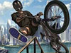 男孩自行车特技