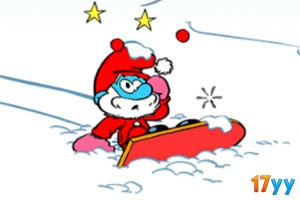 蓝精灵滑雪