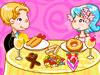 快乐夫妻享受美食