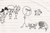 铅笔画小人8