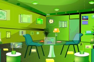 明亮绿色房间逃脱