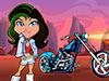 女孩摩托挑战