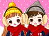 冬季可爱情侣