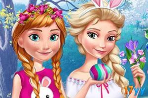 冰雪姐妹快乐复活节