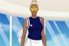 时尚网球装的女孩