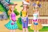 女孩的沙滩派对