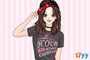 酷爱T恤的女孩